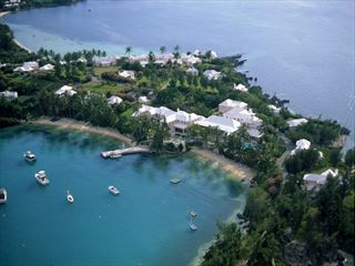 Aerial view of Cambridge Beaches Resort & Spa - Bermuda Holidays