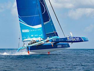 Sailing in Barbados