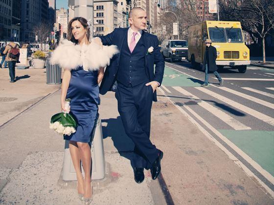 Bride and groom - New York City Clerk Office wedding