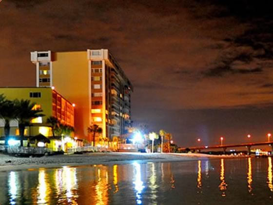 Quality Beach Resort, Clearwater - viewed from the sea