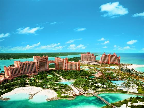 Aerial view of Atlantis Paradise Island
