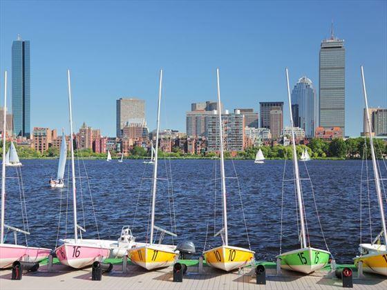 Boston's Back Bay in the summer