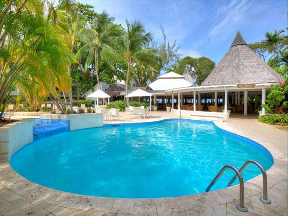 Day view of the pool at The Club Barbados Resort and Spa