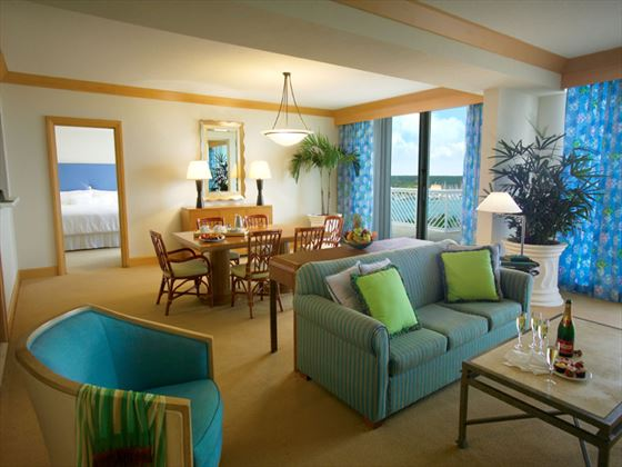 Grand Lucayan One-bedroom Suite living room