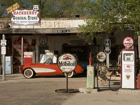 Hackberry general store and gas stop on Route 66
