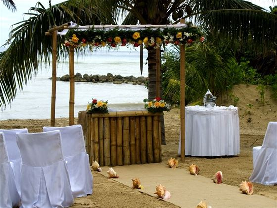 Wedding setting at West Beach