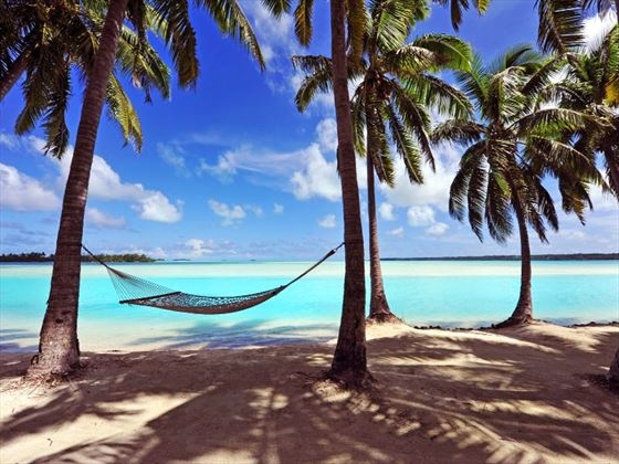 Island hammock overlooking the beach