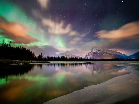 Northern lights in Banff National Park