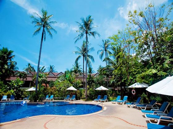 Paradise Beach Resort outdoor pool and surrounding sun terrace