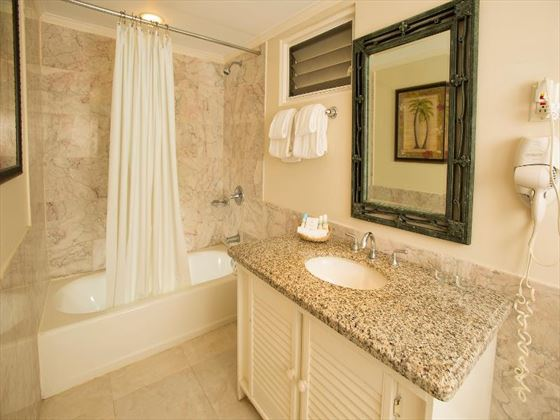 Typical bathroom at The Club Barbados Resort and Spa