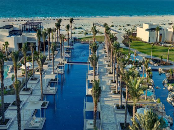 View of the swimming pools at Park Hyatt Abu Dhabi Hotel & Villas