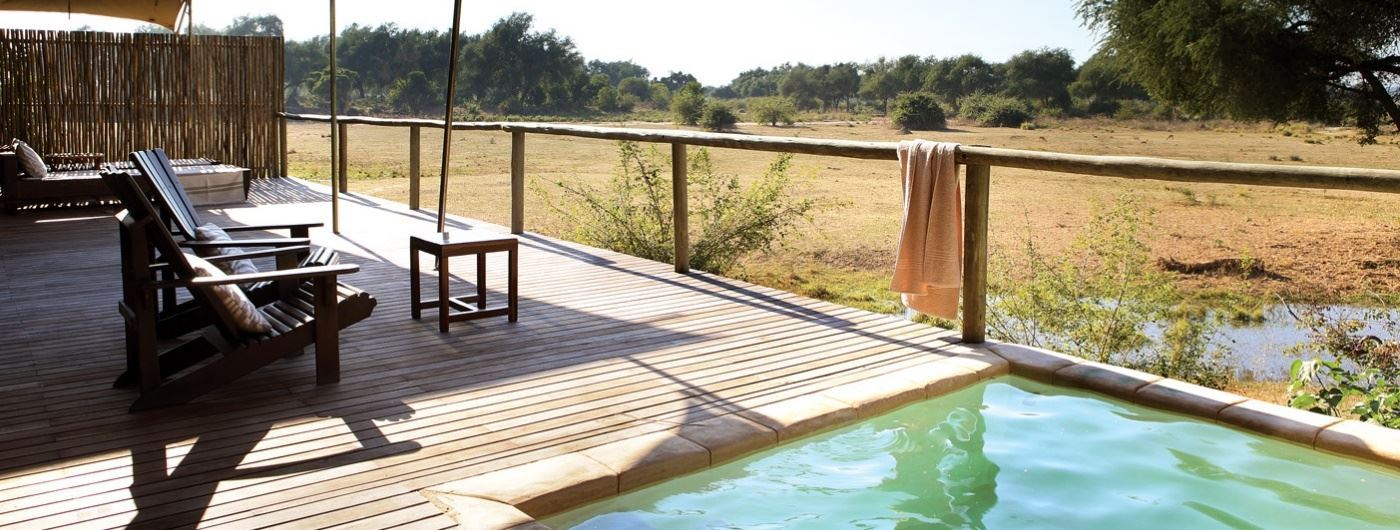 Anabezi Luxury Tented Camp private plunge pool