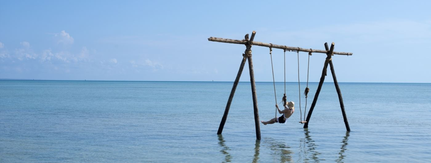 Anantara the Palm JA Palm Tree Court swing in the sea
