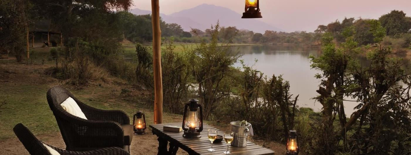Chongwe River Camp private veranda