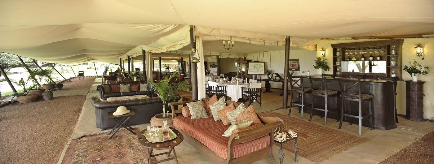 Cottars 1920's Safari Camp mess tent