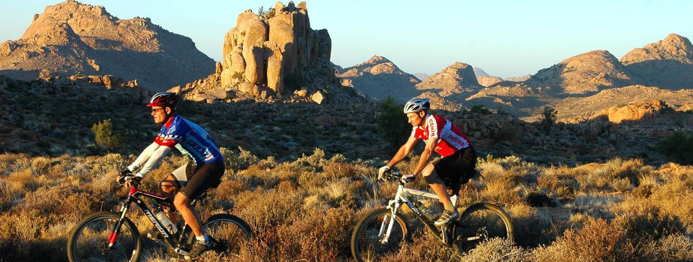 Explore the Nimibian landscapes on a bike trail