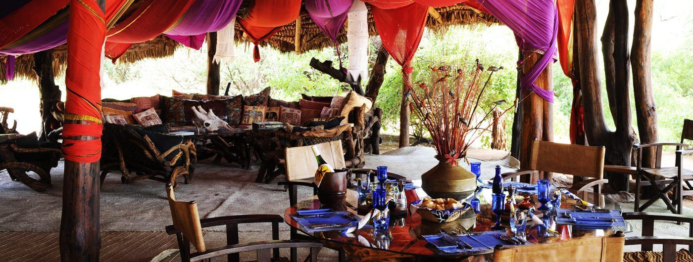 Elephant Watch Camp & Safaris dining area
