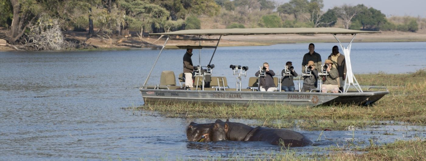 Photography boat trip andBeyond Chobe Under Canvas