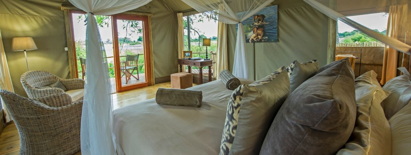 Jacana Camp tent interior