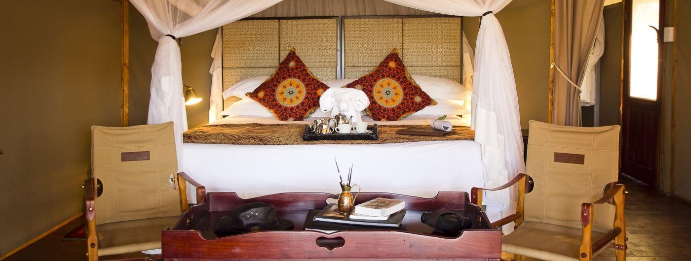 Khulu Ivory Lodge tent interior