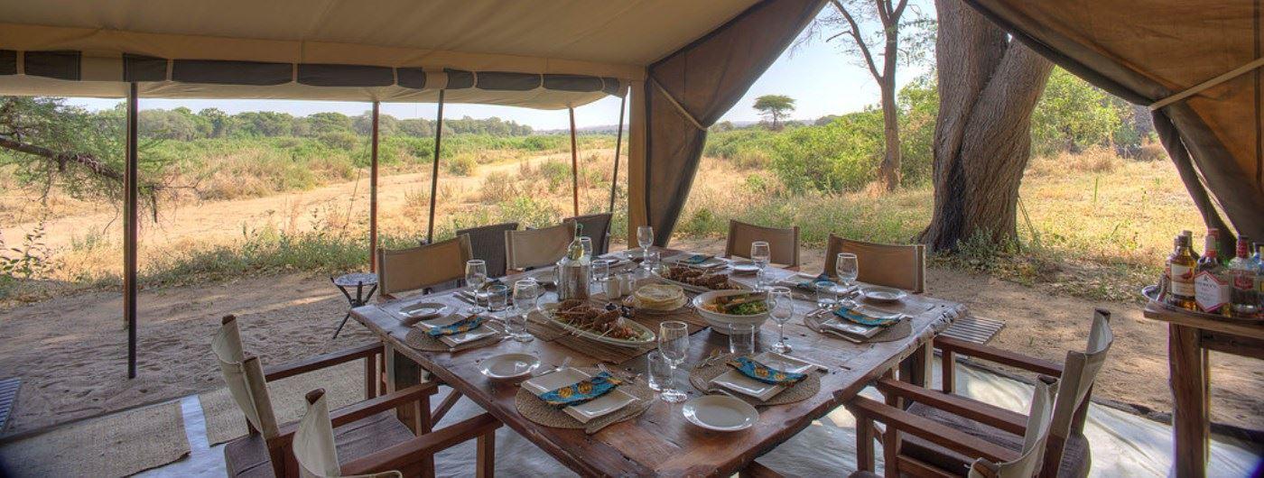 Kichaka Safari Camp dining tent