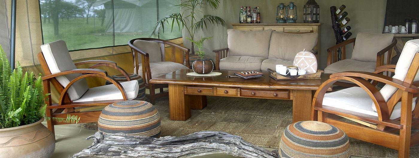 Kicheche Bush Camp lounge tent