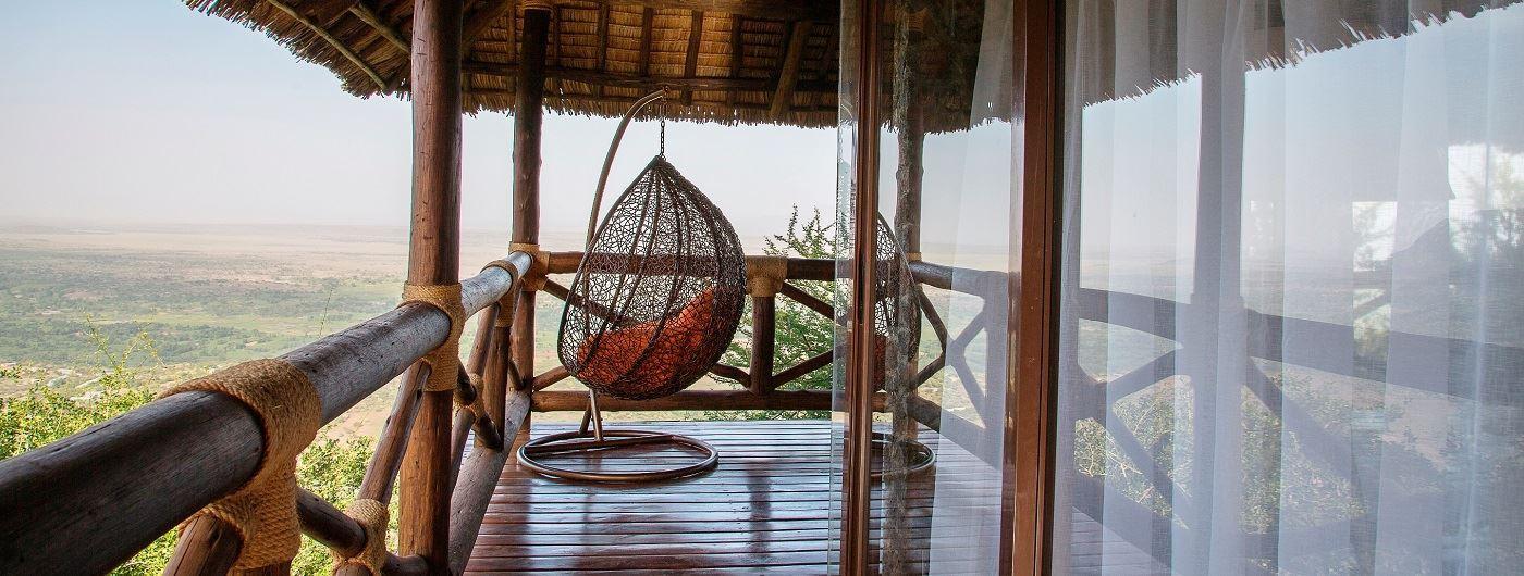 Lake Manyara Kilimamoja Lodge private veranda