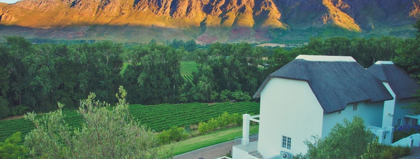 Le Franschhoek Hotel & Spa and vineyard views