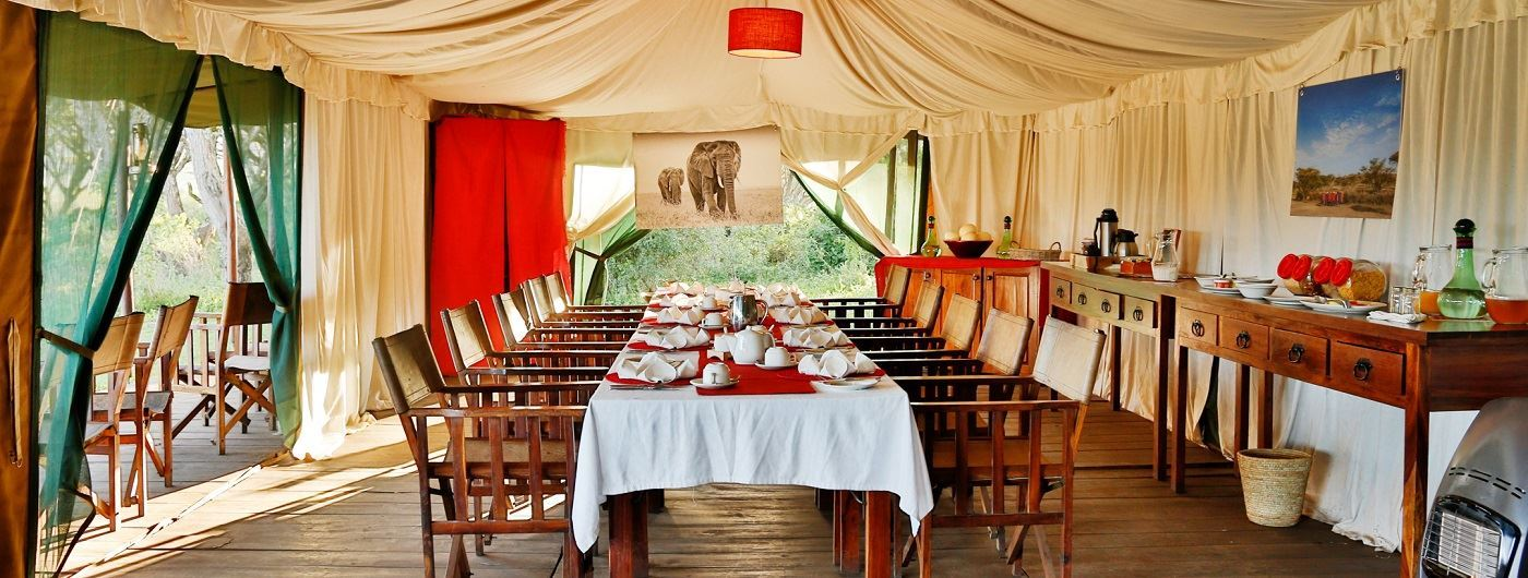 Lemala Ngorongoro Tented Camp dining tent