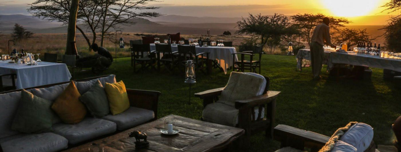 Lewa House al fresco dining