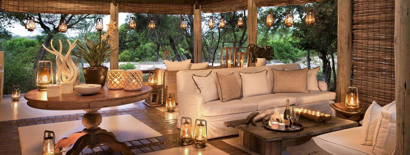 Lion Sands River Lodge main lounge