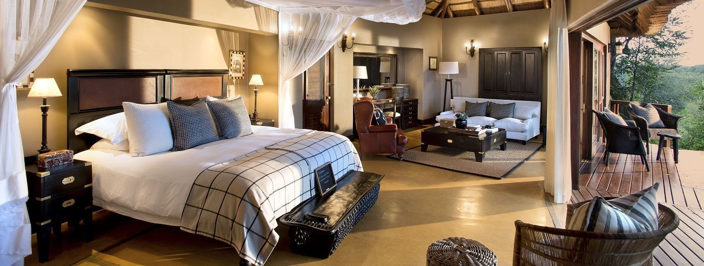 Lion Sands Tinga Lodge suite interior