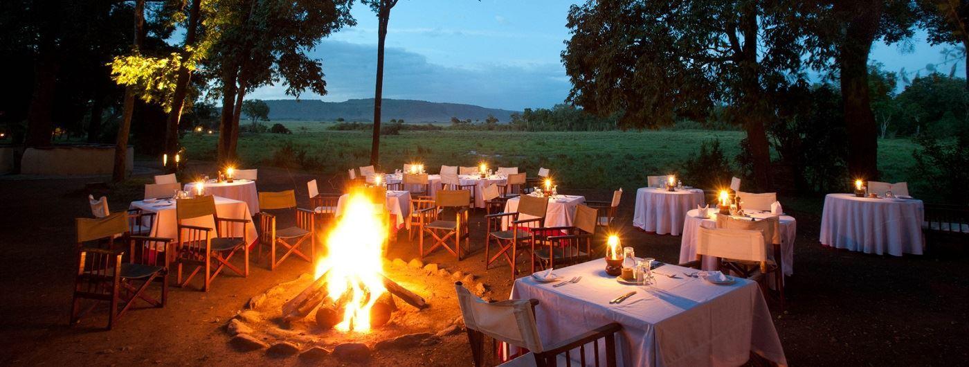 Campfire and al fresco dining