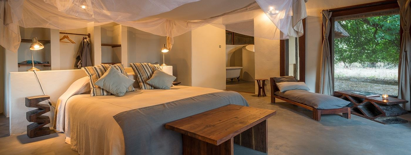 Luangwa River Camp suite interior