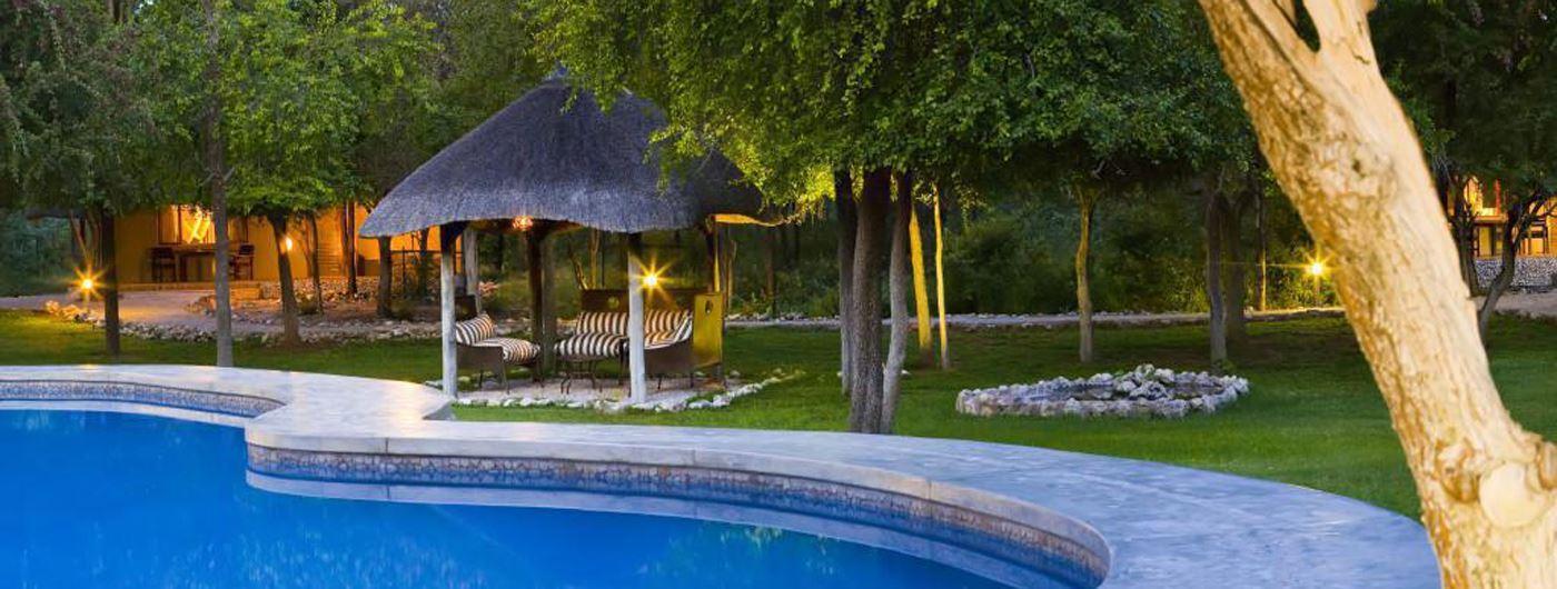 Views of the pool at Mushara Lodge