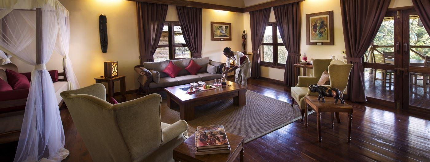 Neptune Ngorongoro Luxury Lodge cottage sitting area