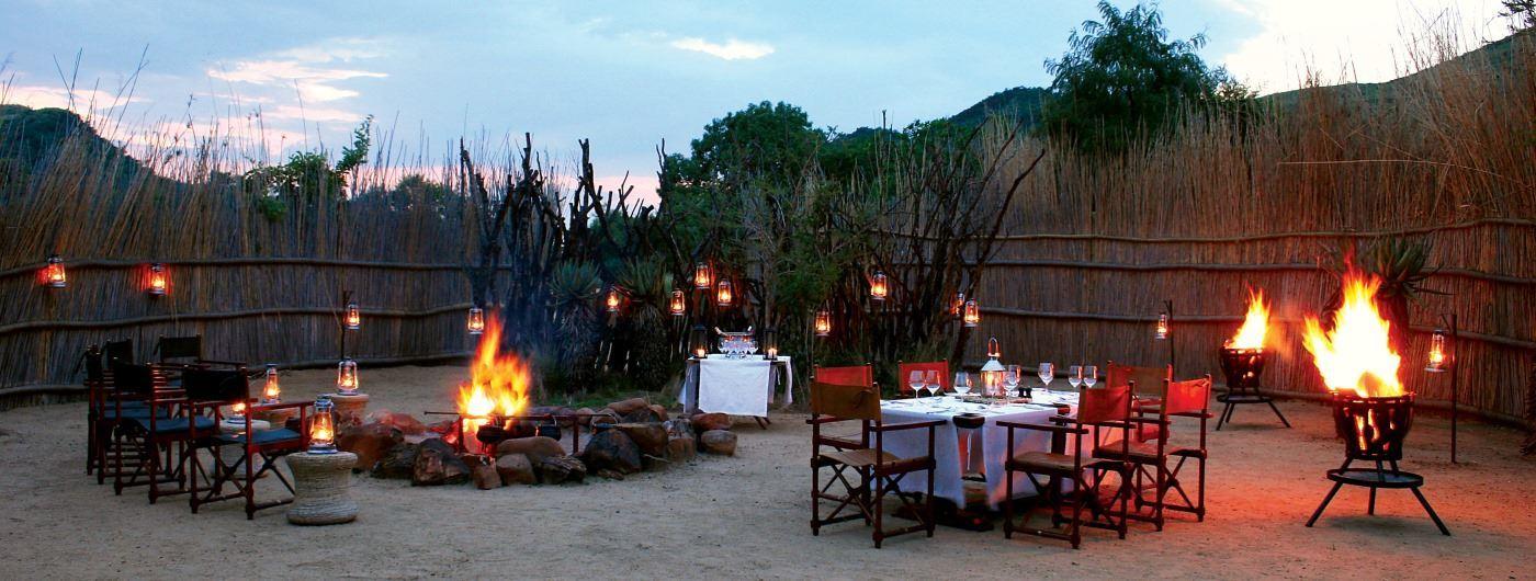 Nkomazi Game Reserve boma dining