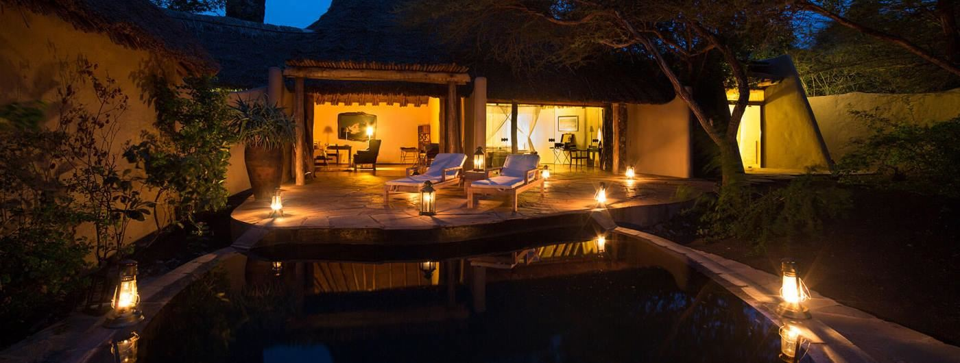 Ol Donyo Lodge pool area