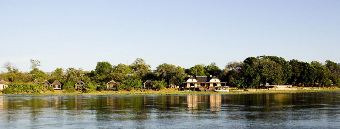 Royal Zambezi Lodge exterior and river