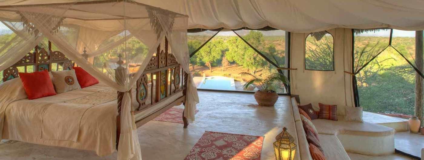 Sasaab Lodge tent interior