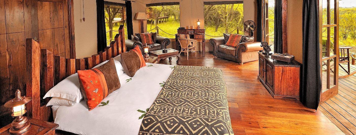Serengeti Migration Camp tent interior