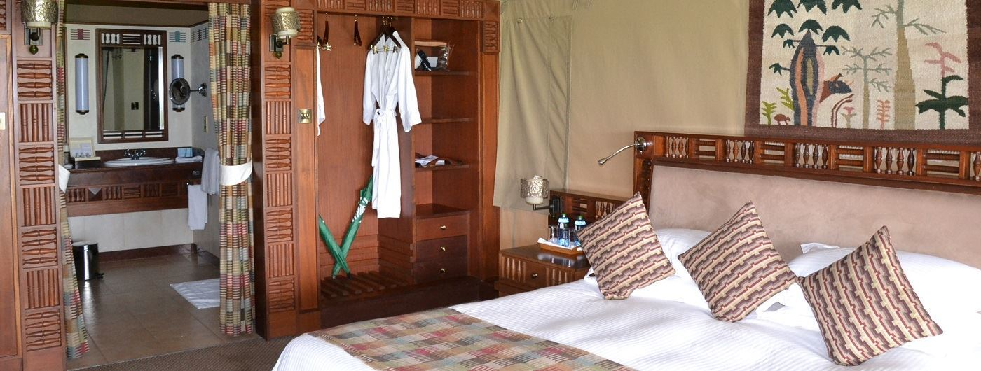 Sweetwaters Tented Camp suite interior
