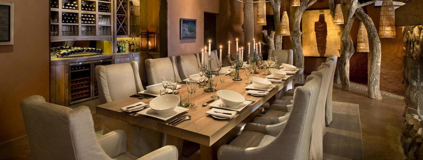 Tswalu - Tarkuni dining room