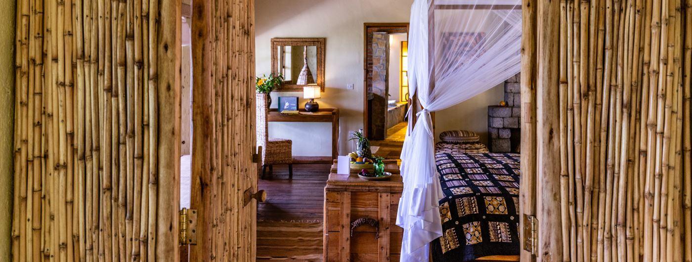 Virunga Lodge room interior