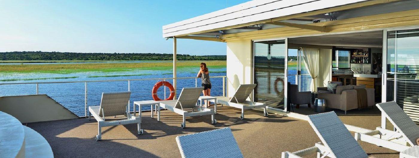 Zambezi Queen pool deck