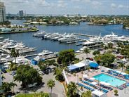 View from hotel of pool and Marina - Fort Lauderdale Holidays