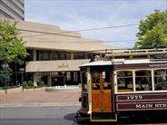 Exterior with trolley bus - California Holidays