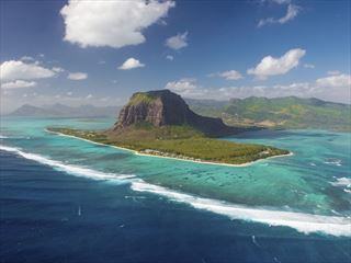 Aerial view of Le Morne, Mauritius