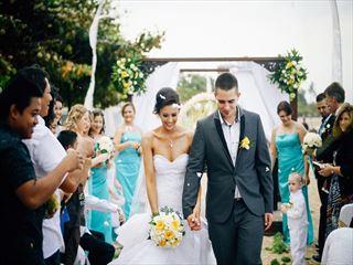 Gorgeous beach wedding at Segara Village