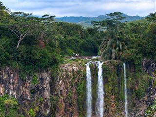 Chamarel waterfall in Mauritius